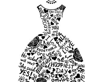 Svg images black and white dress
