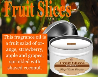 Fruit Slices  Scented Soy Candle Tin (8 oz.)