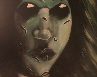 A portrait of evil. My interpretation of Raegan