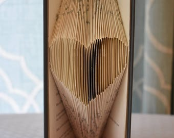 Small folded book art