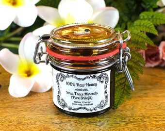 PURE SHILAJIT mixed with 100% Raw Honey (Utah) by Dr. Raw Honey