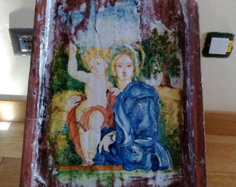 Tile Madonna with Child