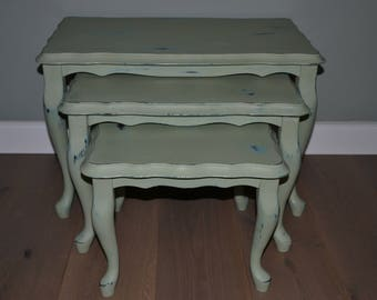 Shabby chic side table set of 3