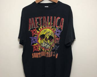 Vintage Metallica 2000 Sanitarium Tour Shirt
