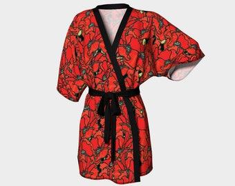 Kimono Robe - Poppies