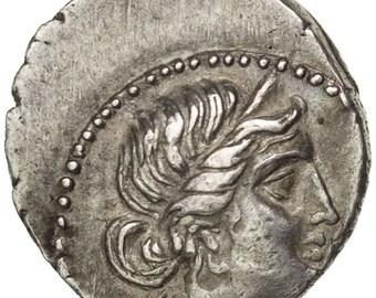 julius caesar denarius ms(60-62) silver cohen #12 3.58
