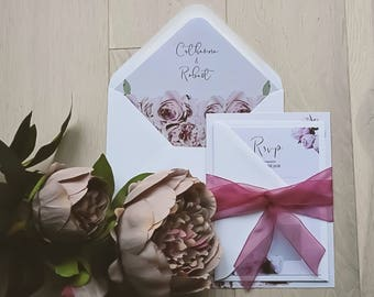 Envelope Liners - Perfect Peonies