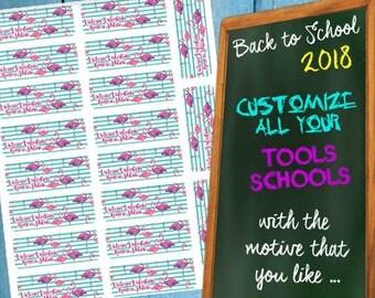 Notebook labels, book labels, school labels