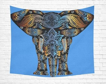 "Elegant Elephant Wall Tapestry 60""x 51"" (7 colors)"