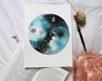 Original painting • • • Luna • Planet Moon full moon