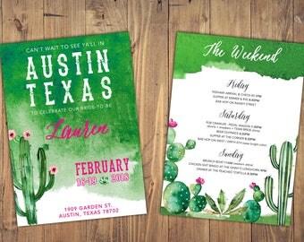 Austin Texas Bachelorette Party Invitation | Digital (Customizable) 5x7