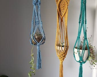 Macrame Plant Hangers- Assorted