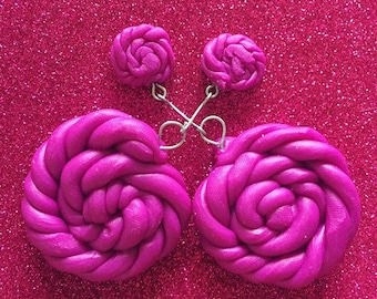 Grape twist earrings