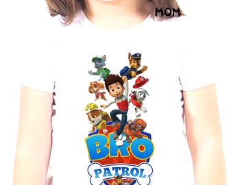 Bro Paw Patrol Iron On Transfer, Bro Paw Patrol Birthday Shirt DIY, Bro Paw Patrol Shirt Designs, Bro Paw Patrol, Personalize, Digital Files