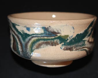 Ceramic tea cup 11 Mokume gane