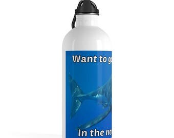 New System Shark Stainless Steel Water Bottle