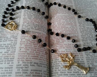 Black and gold Tree of life Rosary
