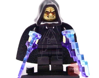 Custom EMPEROR PALPATINE Inspired Minifig Lego Star Wars Jedi Revenge of the Sith