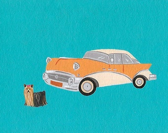 Buick & yorkshire - - original painting