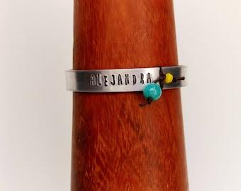Bracelet with aluminum name