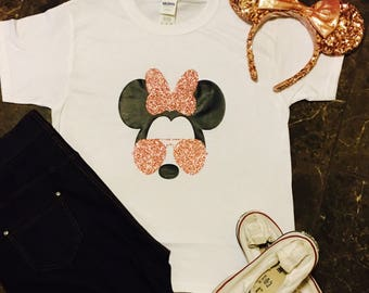 Disney Shirt/Minnie Shirt/Rose Gold Disney Shirt