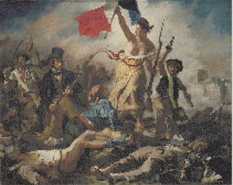 The Liberty of the People - Delacroix - Cross Stitch Pattern