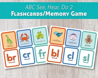 ABC See, Hear, Do 2 Flashcards/Memory Game