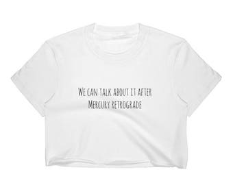 Women's Mercury Retrograde Astrology Lover Crop Top