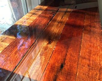 Hand Made Reclaimed Lumber Desk Top