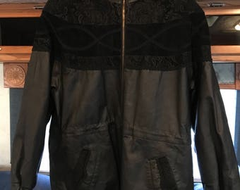 Vintage GIII Women's Leather and Suede Jacket
