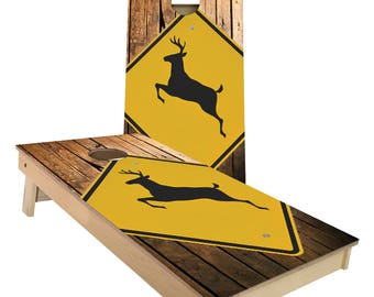 Deer Crossing Cornhole Boards