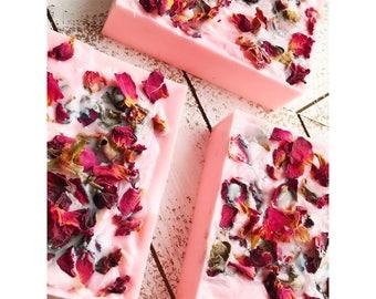 Natural Rose Soap Bars- Set of 3 soap bars-Moisturizing soap bars