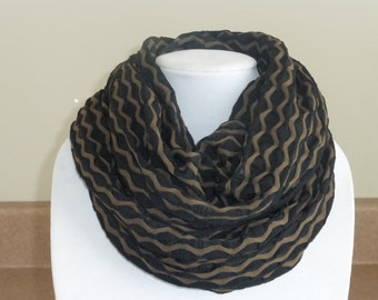 Black and brown infinity scarf