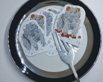 Spaghetti Bear Stickers