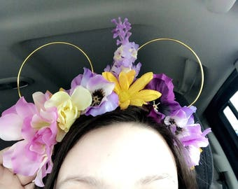 Tangled inspired floral MickeyMouseketEars!