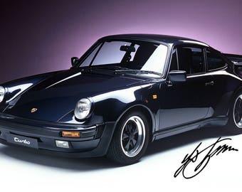 Framed Porsche