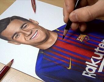 Coutinho Drawing - Barcelona