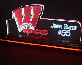 Dual Pane Edge Lit Acrylic Sign - Whitewater HS