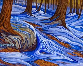"Almost Like The Blues, Haliburton, Ontario, 16"" x 20"" giclee print - Limited Edition of 50 - Canadian Art"