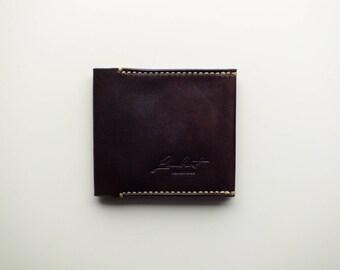 Men's leather wallet, Bi-fold wallet, Minimalist wallet, Leather card holder, Leather gift