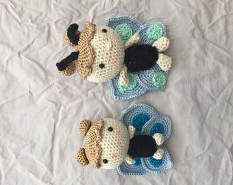 Crochet butterfly doll