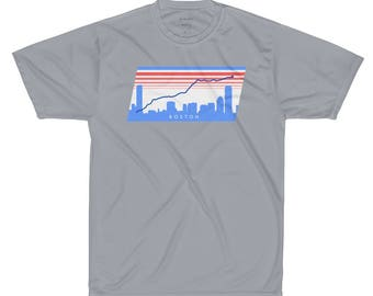 Boston Marathon route technical shirt