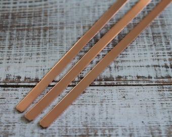 """200 -  1/4"""" X  6"""" copper cuff bracelet blanks, copper cuff blanks, Bracelet Blanks, Cuff Blanks"""