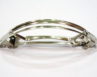 10 barrettes curved frame Made in France 9 cm