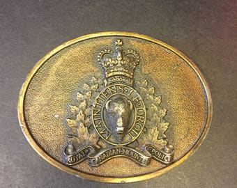 Royal Canadian mounted police belt buckle
