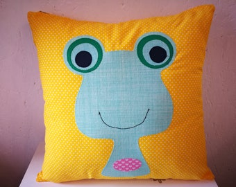 Yellow-green Frog Pillow