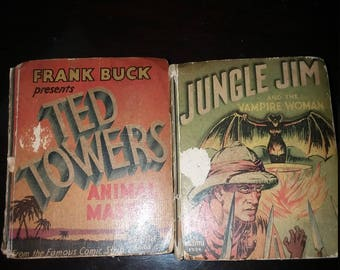 Two Big Little Books, Ted Towers and Jungle Jim