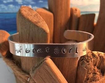 Personalized Cuff Bracelet/Cuff Bracelets/Key West Jewelry/Nautical Jewelry/Beach Jewelry/Gift for Friend/Personalized Gift/Bracelets