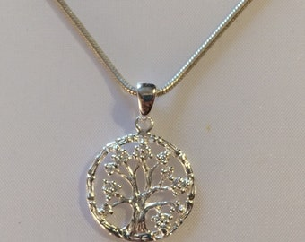 Pendant in silver 925/-Tree of Life