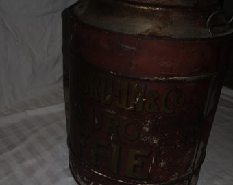 big old vintage Coffee container